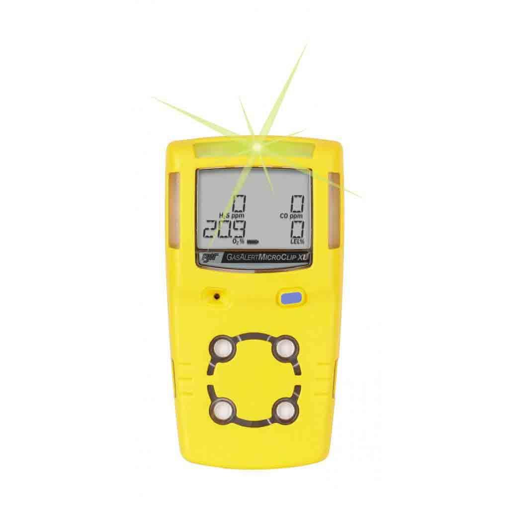 BW GasAlert MicroClip XT Multigas Monitor Detector Meter H2S,LEL,CO,O2 New OXY